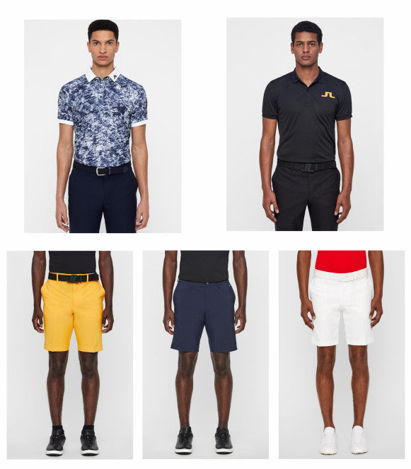 J. lindeberg polos and shorts for Spring 2019