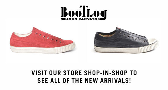 Bootleg low-top sneakers. Be sure to visit our in-store JV shop in shop