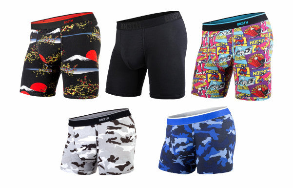 BN3TH boxer briefs and trunks.