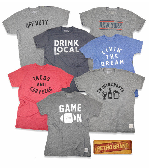 Retro Brand tee collection at Jeff's Guyshop