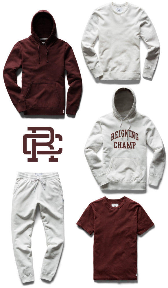 Reigning Champ hoodies, sweats and tees