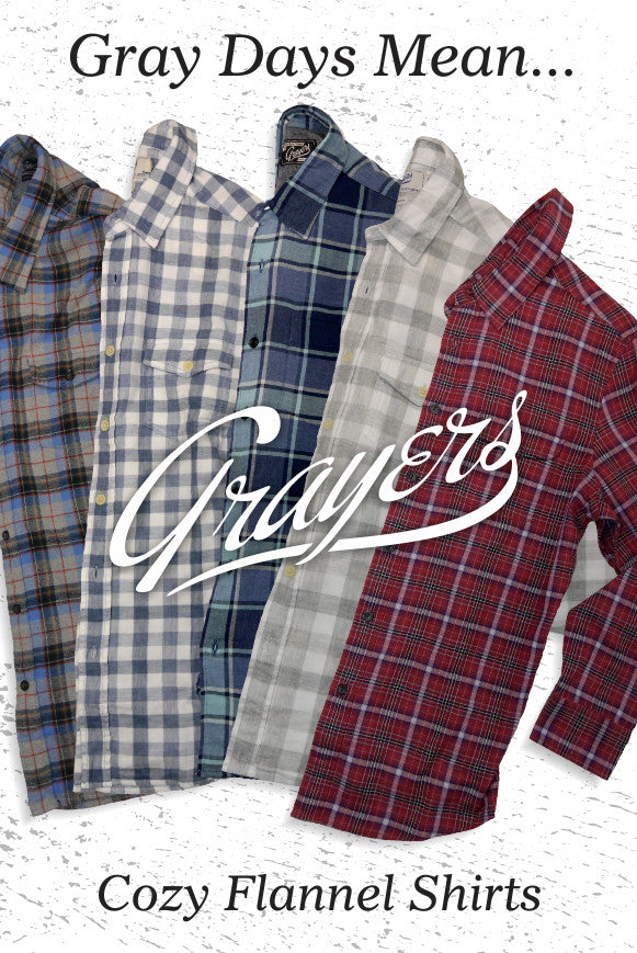 Grayers flannel shirts