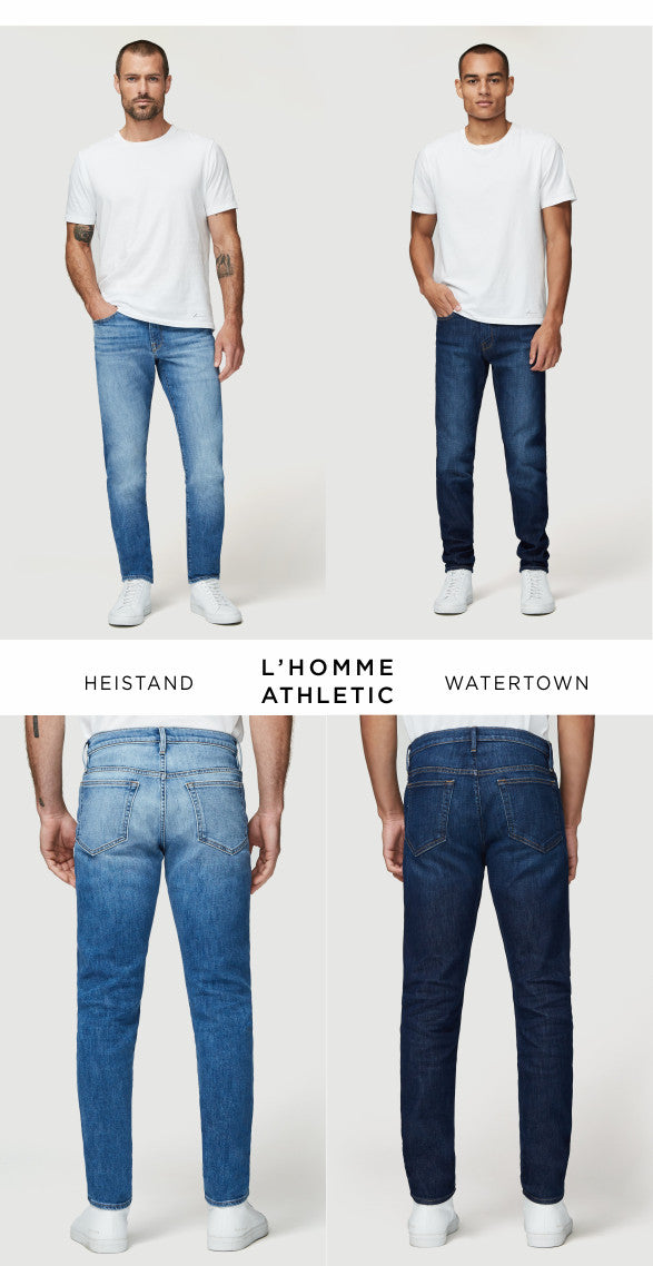 Frame athletic jeans in Heistand and Watertown