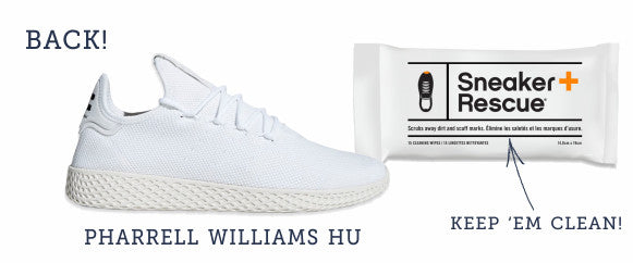 Pharrell Williams Hu sneaker and Sneaker Rescue kit