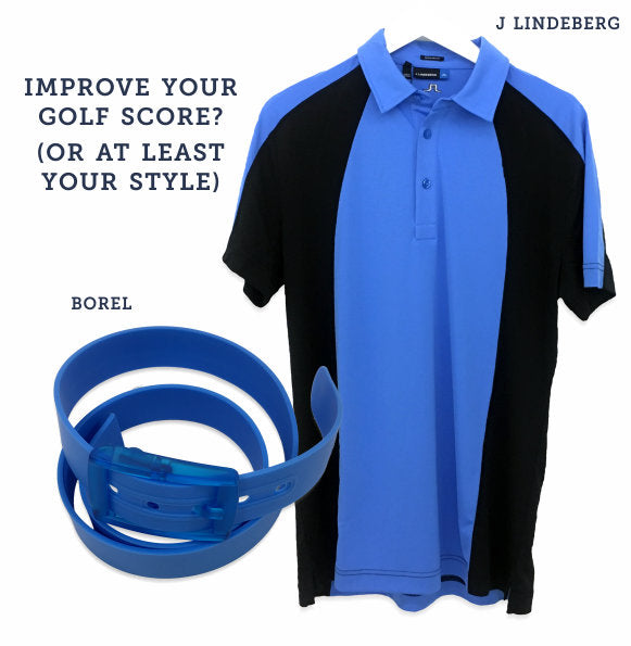 J Lindeberg shirt and Borel belt