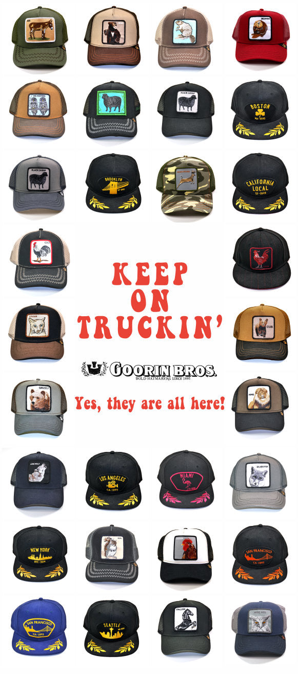 Our large selection of Trucker Hats from Goorin Bros.