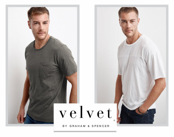 Velvet tees - grey and white