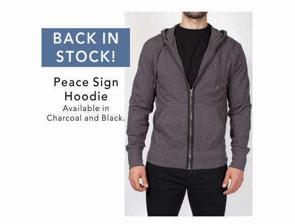 Back in stock - The Peace Sign Hoodie by John Varvatos Star USA