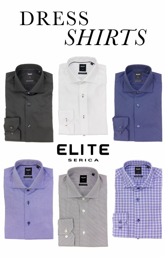 Dress Shirts from Serica Elite - six to choose from.