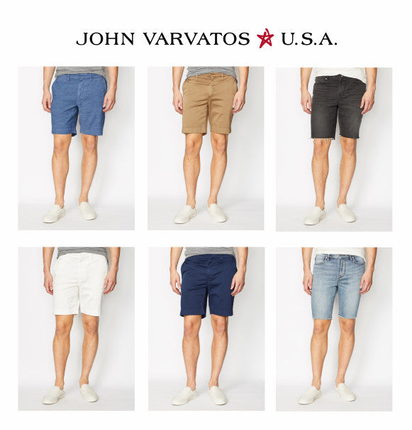 John Varvatos Star USA shorts for Spring 2019