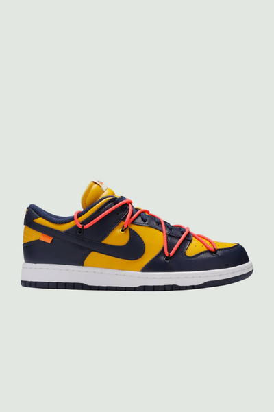 "Off-White Dunk Low Leather ""Michigan Blue"""