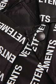 Vetements Allover Logo Raincoat