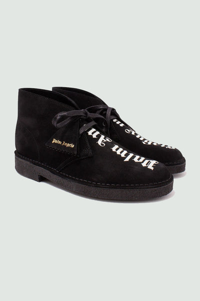 Palm Angels Clarks Black Suede Desert Boots