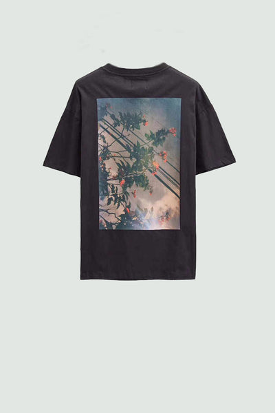 Fear of God Essentials Boxy Fog T-Shirt Flowers (Pre-Owned)