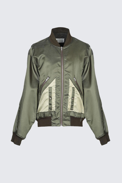 maison margiela Military Green Bomber Jacket