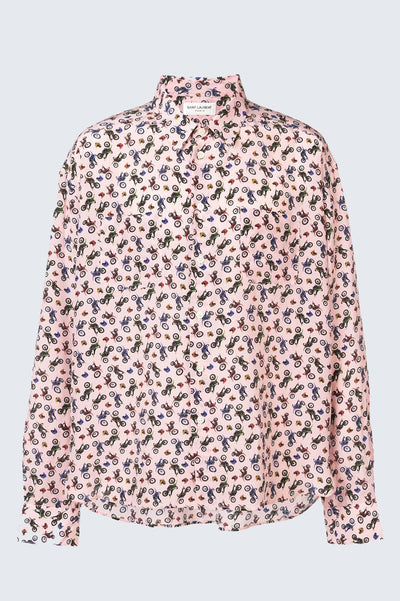 SAINT LAURENT Motorcycle All Over Printed Shirt