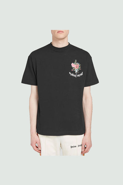 PALM ANGELS Flowers Printed T-Shirt