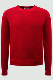 Palm Angels Red Crew Neck Logo Sweater