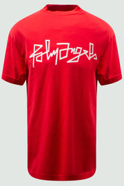 Palm Angels Red Desert Logo Print T-Shirt