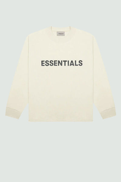 FEAR OF GOD ESSENTIALS 3D Silicon Applique Boxy Long Sleeve T-Shirt