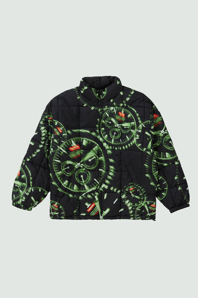 Supreme Watches Reversible Puffy Jacket Black