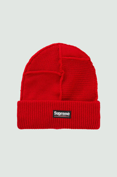 Supreme Paneled Seam Beanie Red