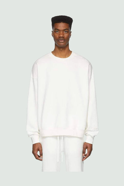 FEAR OF GOD ESSENTIALS WHITE REFLECTIVE FLEECE SWEATSHIRT