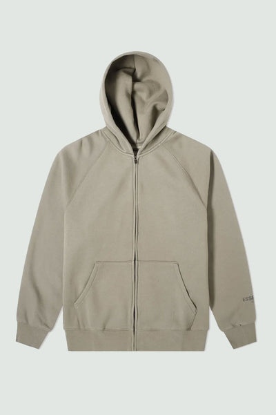 FEAR OF GOD ESSENTIALS RAGLAN FULL ZIP HOODIE