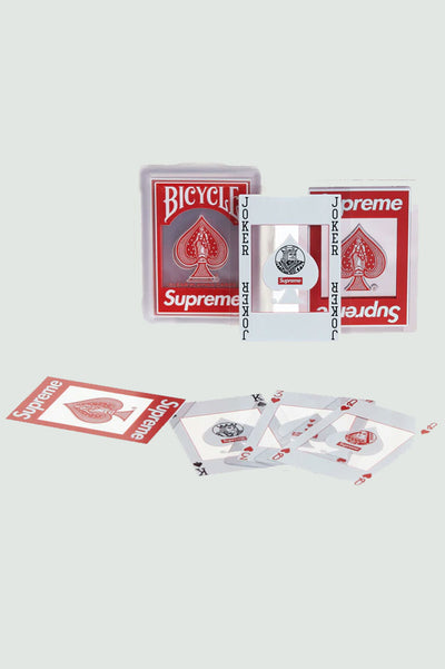Supreme Bicycle Clear Playing Cards Red