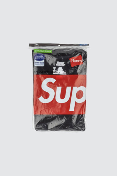 SUPREME/HAYNES Tagless Tees Black