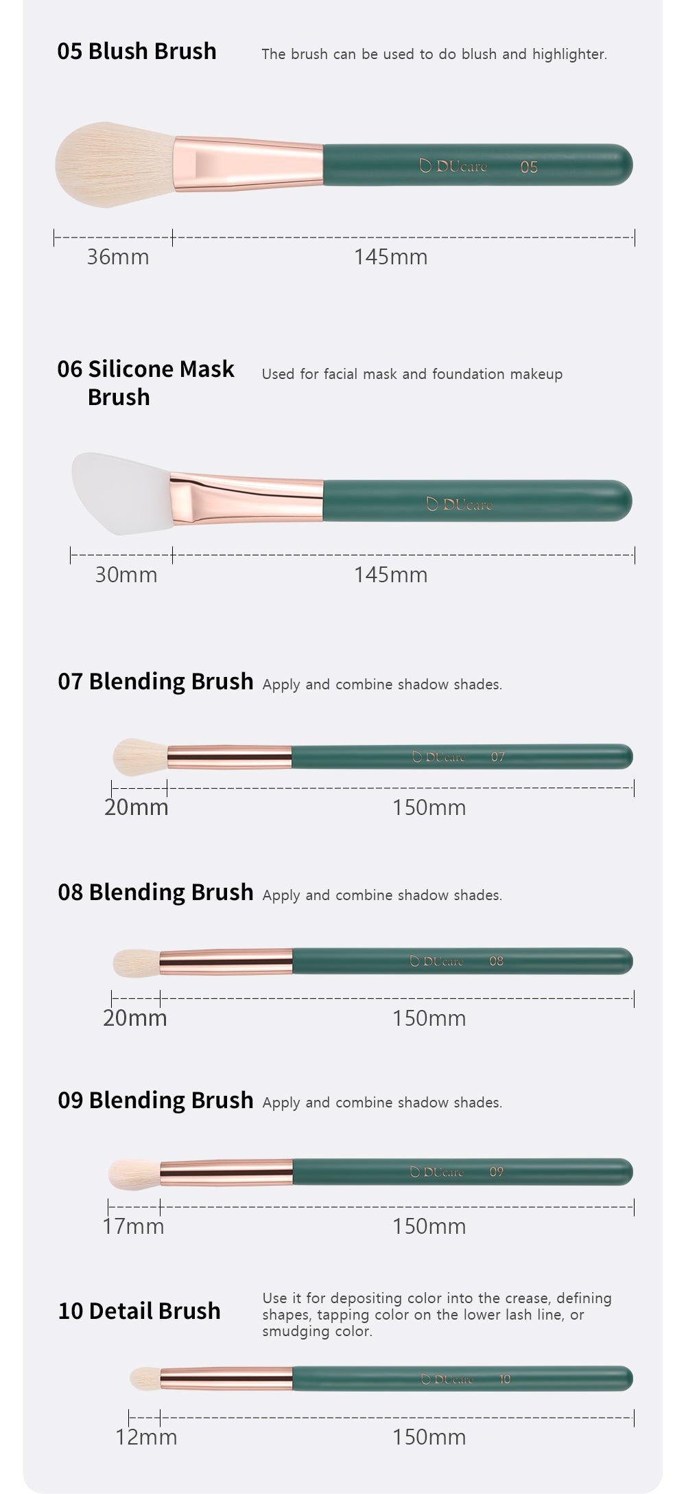 makeup brushes function