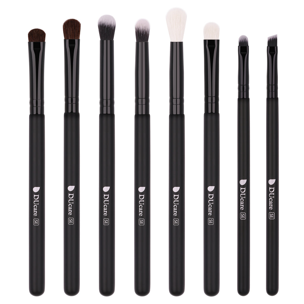 Classic Black - 8in1 DUcare Eyebrow & Eyeshadow Brushes Set