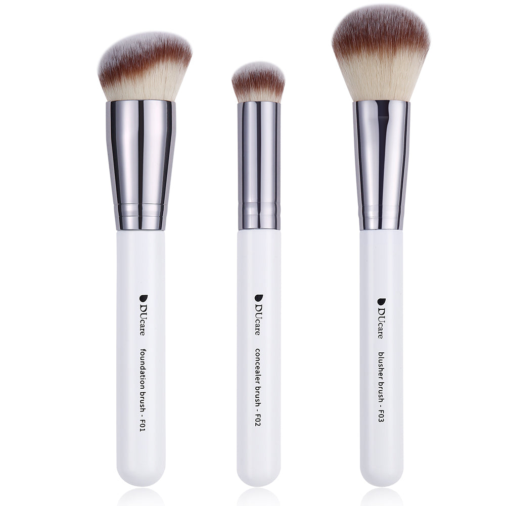 Classic Black & White - 3in1 Pro Face Brushes Set