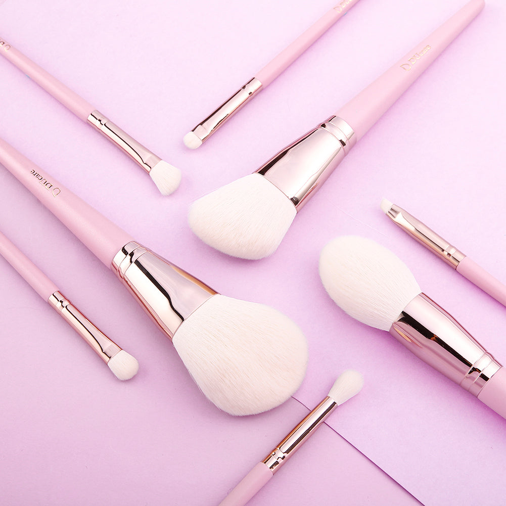 Light Pink - 8in1 Pro Makeup Brushes Set