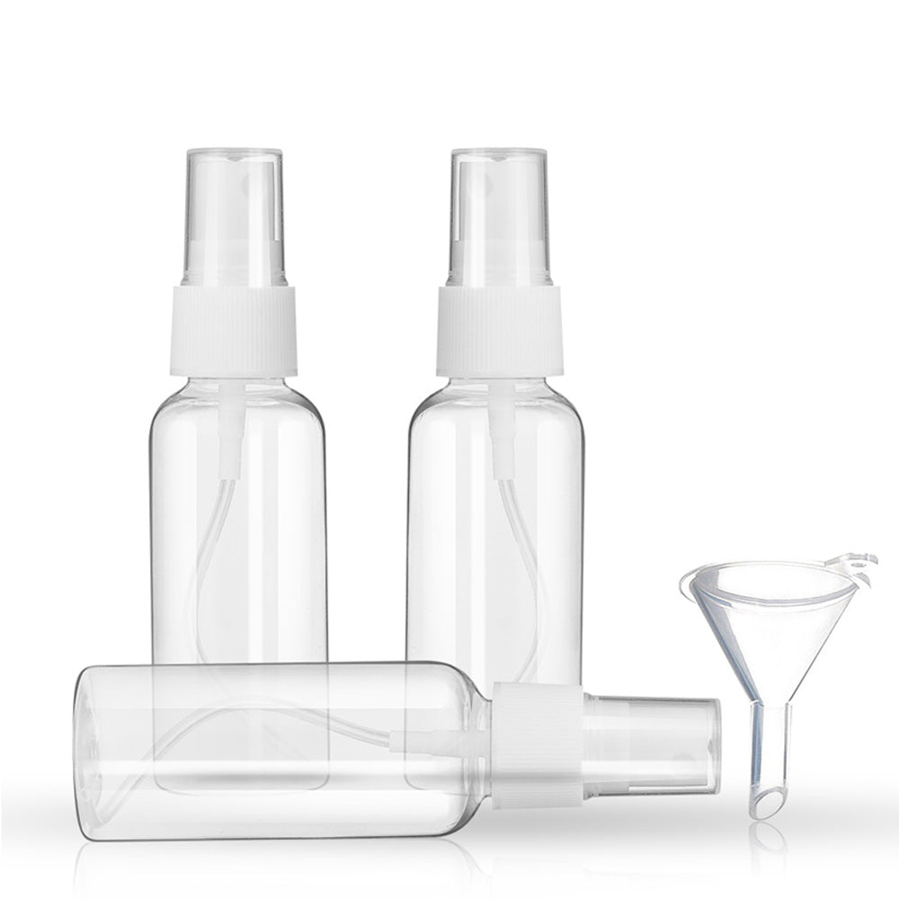 2oz/50ml DUcare Spray Bottles Clear Empty Fine Mist Plastic with 1pcs Funnels
