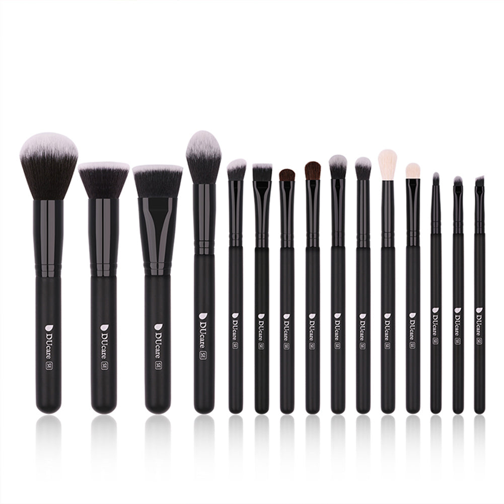 Classic Black - 15/20pcs Pro Makeup Brushes Set