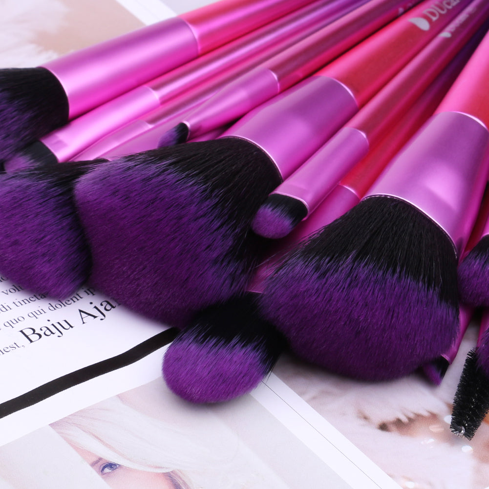 Classic purple - 15in1 Makeup Brushes Set