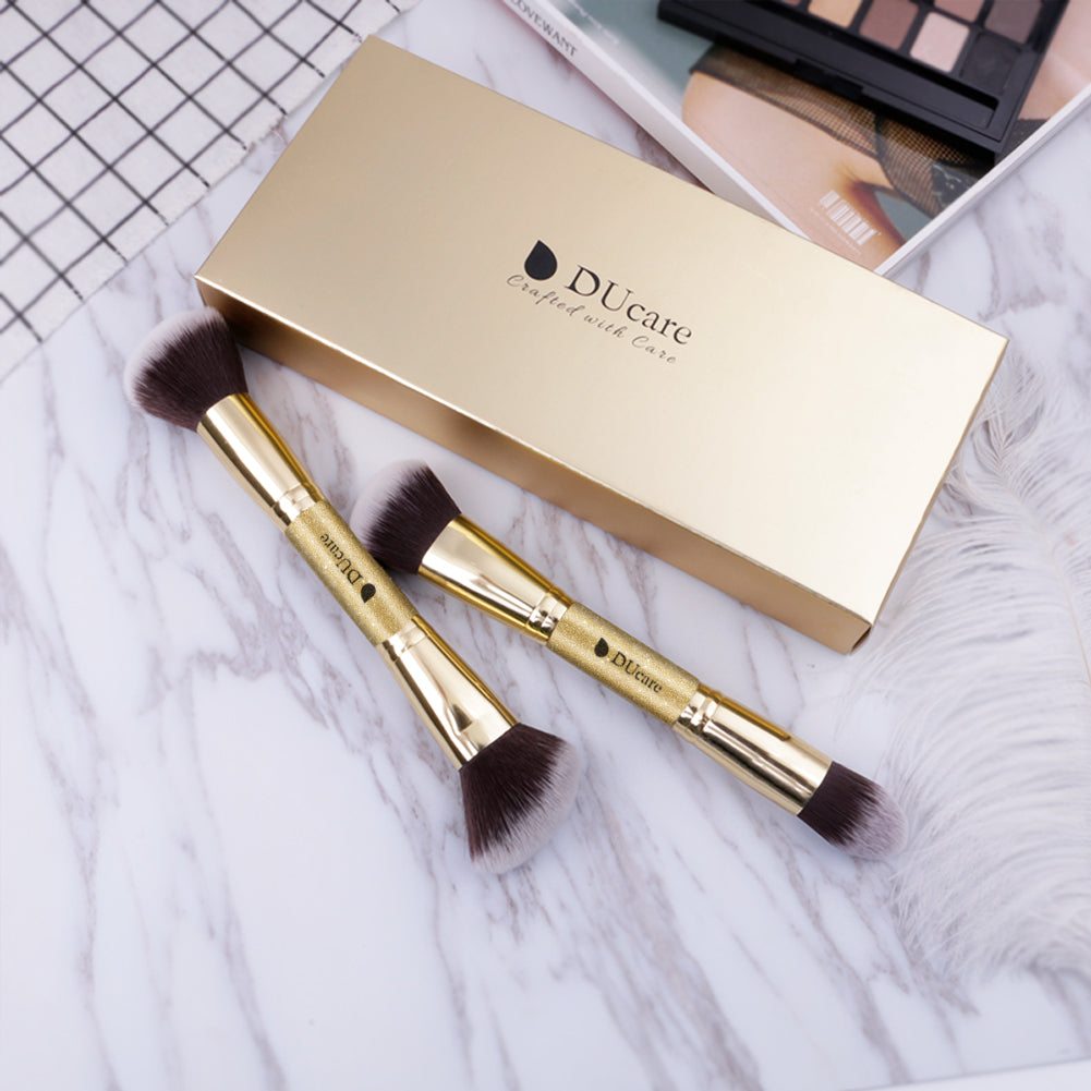 2in1 Foundation / Powder / Buffing / Contour Brushes Set