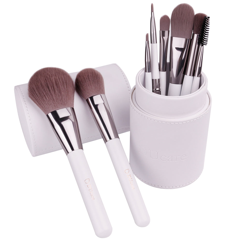 8in1 Powder / Blush / Foundation / Concealer / Blending / Eyebrow / Lip / Spoolie Brushes Set
