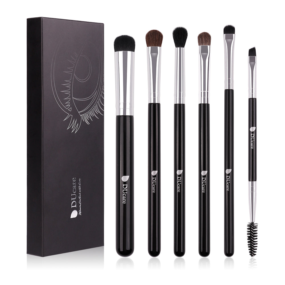 6in1 Smokey / Eyeshadow / Blending / Concealer / Angled Eyebrow Brushes Set