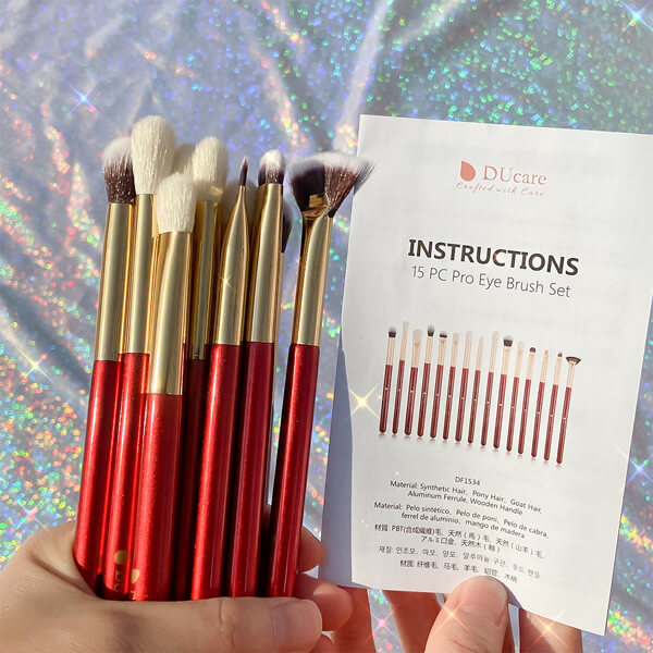 MINI - 15 in 1 DUcare Makeup Brushes Set