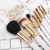 8in1 Eyeliner / Lip / Angled Eyebrow / Eyeshadow / Blending / Foundation / Powder Brushes Set