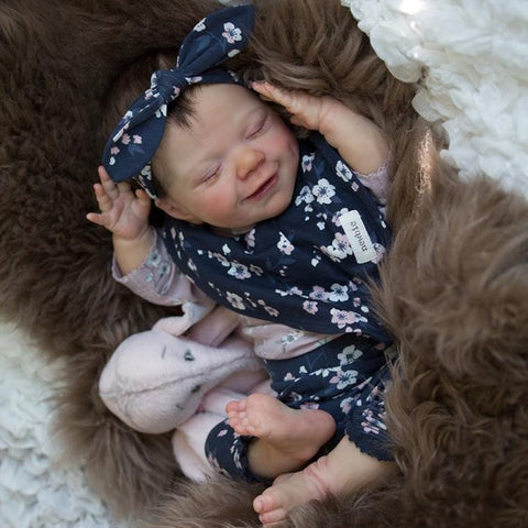 22'' Remington Soft Reborn Baby Girl Doll - Realistic Toys Gift Lover