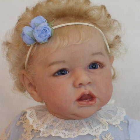 22'' Cute Penny Reborn Baby Doll Girl with a Headband