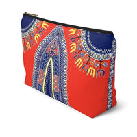 African Angelina Pattern Print Accessory Pouch Clutch w T-bottom