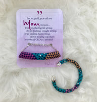 Ankara Bar Tube Necklace with Mother's Day Message Card