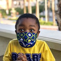 Kids Reusable Ankara Face Mask with Filter and Pocket