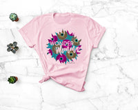 Wonder Momma Ankara Print Graphic Mom T-Shirt