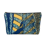 Vintage Shaperoot Pattern Ankara Print Accessory Pouch Clutch w T-bottom