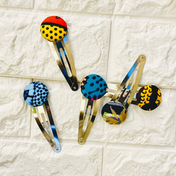 Large Ankara Slide Snap Hair Clip